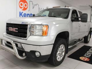 Used 2011 GMC Sierra 3500 HD SLT with heated power leather seats and trailer assist for sale in Edmonton, AB