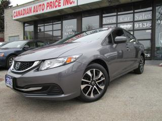Used 2015 Honda Civic EX-AUTO-SUNROOF-CAMERA-HEATED-BTOOT-ALLOYS for sale in Scarborough, ON