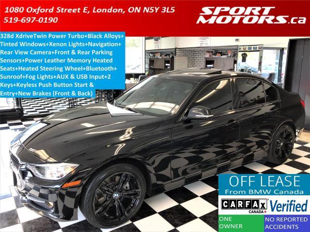 2015 BMW 3 Series 328d xDrive *Diesel*+GPS+Camera+Sensors+New Brakes