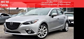 Used 2014 Mazda MAZDA3 S Grand Touring | VIDEO.CALL.US| NAVI | HEADS-UP | SUNROOF | LEATHER | BLINDSPOT | CARFAX CLEAN for sale in Mississauga, ON