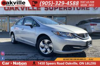 Used 2014 Honda Civic Sedan CVT LX | HTD SEATS | BLUETOOTH | CRUISE | NO CLAIM for sale in Oakville, ON