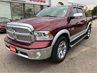 Used 2016 RAM 1500 Laramie Crew 4x4 V8 w/Air Ride, Sunroof, Navi, Lea for sale in Hamilton, ON