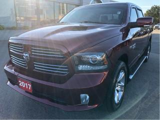 Used 2017 RAM 1500 Sport Crew 4x4 V8 w/Sunroof, Leather, Navi, Remote for sale in Hamilton, ON
