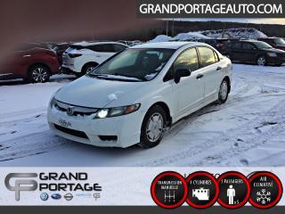 Used 2009 Honda Civic DX-G 4 portes Manuelle *AUBAINE* for sale in Rivière-Du-Loup, QC