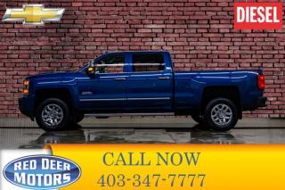 Used 2018 Chevrolet Silverado 3500HD 4x4 Crew Cab High Country Diesel Leather Roof Nav for sale in Red Deer, AB