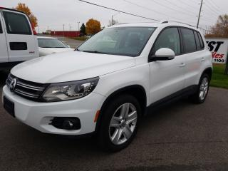 Used 2015 Volkswagen Tiguan Comfortline SUNROOF !!  BLUE TOOTH !! LEATHER !! LOW KMS for sale in Cambridge, ON