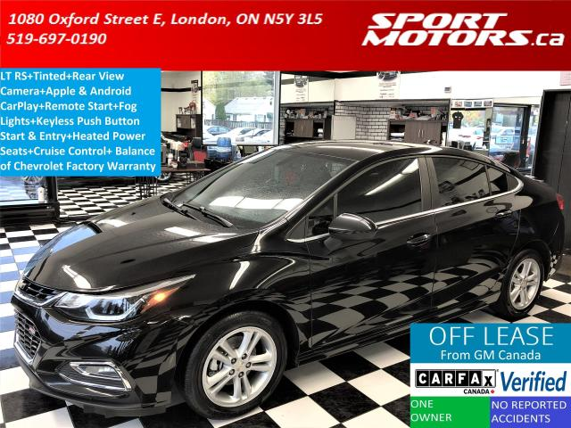 2016 Chevrolet Cruze LT RS+Tinted+Camera+Apple Play+Remote Start