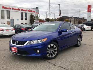 Used 2015 Honda Accord Coupe EX-L w/Navi - Leather - Sunroof - Rear Camera for sale in Mississauga, ON