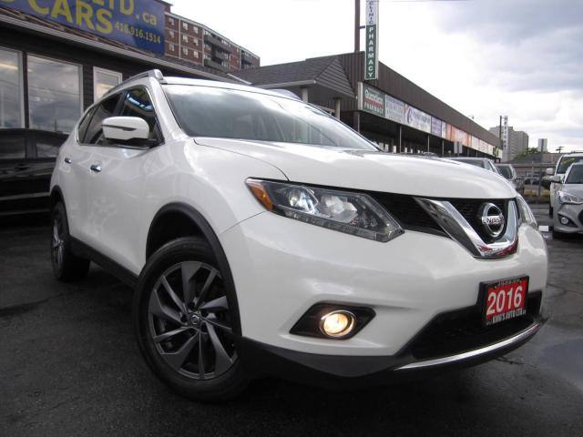 2016 Nissan Rogue SL AWD ACCIDENT FREE, NAVIGATION, BACK UP CAMERA, PANORAMIC ROOF, HEATED SEATS, LEATHER INTERIOR