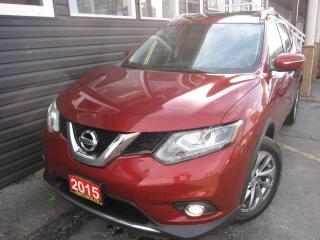 Used 2015 Nissan Rogue SL AWD, LEATHER, B-CAM, PANO ROOF, NAVI for sale in Scarborough, ON