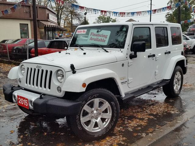 2015 Jeep Wrangler Unlimited Sahara 4x4 One Owner Very Low Km's Leather & Navigation