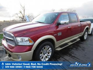 Used 2014 RAM 1500 Longhorn Crew Cab 4x4, Leather, Navigation, Sunroof, Heated Steering, Trailer Pkg and more! for sale in Guelph, ON