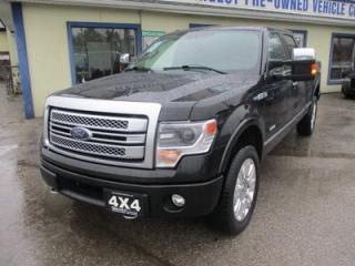 Used 2014 Ford F-150 LOADED PLATINUM EDITION 5 PASSENGER 3.5L - ECO-BOOST.. 4X4.. CREW.. SHORTY.. NAVIGATION.. LEATHER.. HEATED/AC SEATS.. SUNROOF.. POWER MIRRORS.. for sale in Bradford, ON