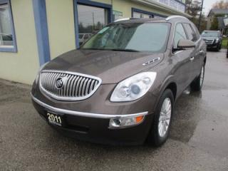 Used 2011 Buick Enclave LOADED CXL-1 EDITION 7 PASSENGER 3.6L - V6.. CAPTAINS.. THIRD ROW.. LEATHER.. HEATED SEATS.. CD/AUX INPUT.. BACK-UP CAMERA.. for sale in Bradford, ON
