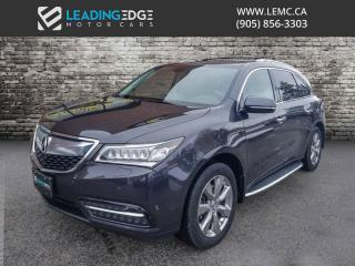 Used 2014 Acura MDX Elite Package Nav, Adaptive Cruise, Ultra Wide DVD for sale in Woodbridge, ON