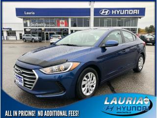 Used 2017 Hyundai Elantra LE Auto - Low kms! for sale in Port Hope, ON