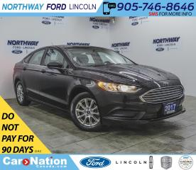 Used 2017 Ford Fusion S | BACK UP CAM | PUSH START | BLUETOOTH+USB | for sale in Brantford, ON