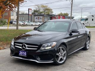 Used 2016 Mercedes-Benz C-Class C300 C 300 4matic/AMGpkg/Navigation/RevCam for sale in BRAMPTON, ON