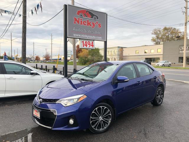 2014 Toyota Corolla S - BACKUP CAM - LEATHER - ALLOYS - SUNROOF!