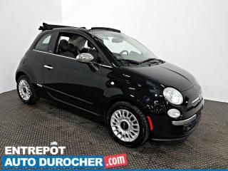 Used 2015 Fiat 500 C Lounge DÉCAPOTABLE - AIR CLIMATISÉ - CUIR for sale in Laval, QC