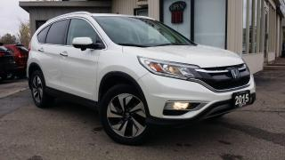 Used 2015 Honda CR-V TOURING -NAVIGATION! BACK-UP/BLIND-SPOT CAM! LEATHER! for sale in Kitchener, ON