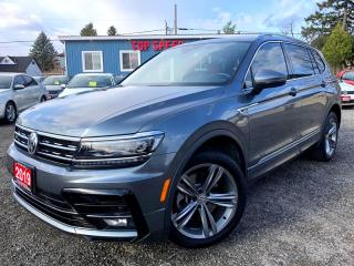 Used 2019 Volkswagen Tiguan Highline R Navi Pano Driver-assis -pkg Certified for sale in Guelph, ON