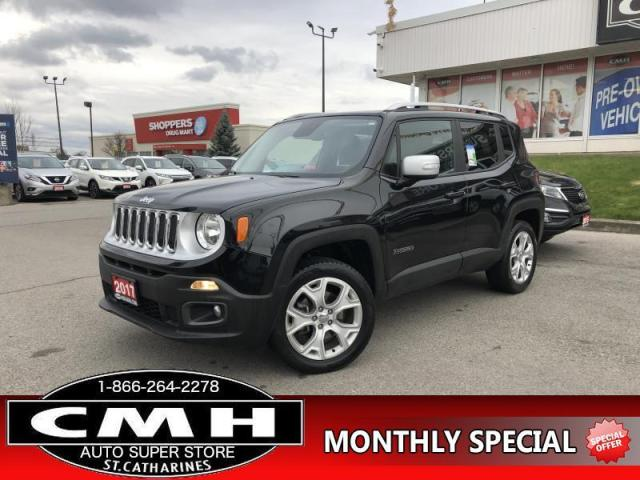 2017 Jeep Renegade Limited  AWD LEATH NAV ROOF CAM P/SEAT