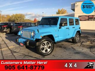 Used 2017 Jeep Wrangler Unlimited Sahara  NAV LEATH HS PREM-AUDIO BT 2-TOPS AUTO REMOTE for sale in St. Catharines, ON