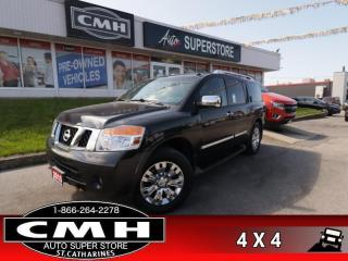 Used 2015 Nissan Armada Platinum  NAV ROOF DVD 7-PASS P/GATE for sale in St. Catharines, ON