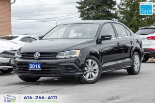 Used 2016 Volkswagen Jetta Sunroof A-6 1*owner Clean Carfax Certified Finance for sale in Bolton, ON