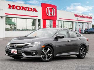 Used 2016 Honda Civic Touring One Owner Certified Civic With Powertrain Warranty Until 04/26/2022! for sale in Waterloo, ON