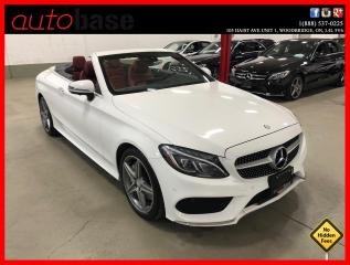 Used 2017 Mercedes-Benz C-Class C300 4MATIC CONVERTIBLE PREMIUM SPORT ACTIVE LED 360 RED INT! for sale in Vaughan, ON