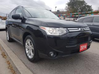 Used 2014 Mitsubishi Outlander ES-4WD-SUNROOF-BK UP CAM-LEATHER-BLUETOOTH-AUX-USB for sale in Scarborough, ON