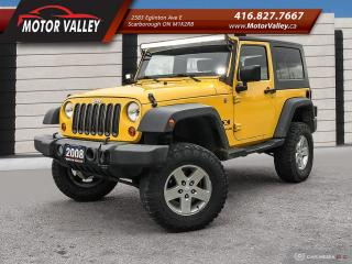 Used 2008 Jeep Wrangler X 4X4 Raised Suspension - Upgraded Tires!! for sale in Scarborough, ON