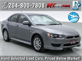 Used 2012 Mitsubishi Lancer SE for sale in Winnipeg, MB