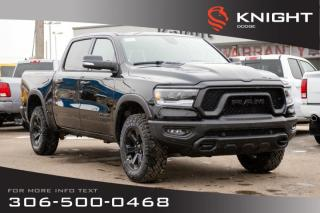 Used 2020 RAM 1500 Rebel Crew Cab | Heated Seats and Steering Wheel | Remote Start for sale in Swift Current, SK