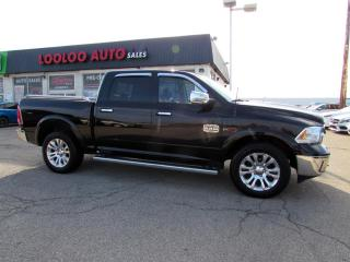 Used 2015 RAM 1500 Laramie Longhorn Crew Cab ECO DIESEL 4WD Navi Camera Certified for sale in Milton, ON
