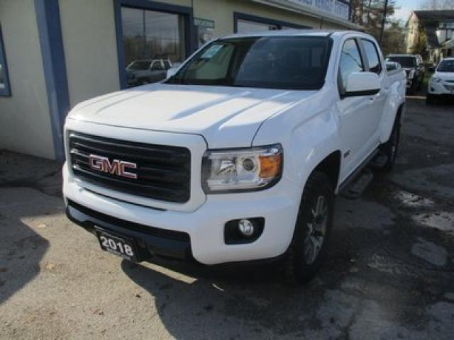 2018 GMC Canyon LOADED ALL-TERRAIN EDITION 5 PASSENGER 3.6L - V6.. 4X4.. CREW.. SHORTY.. NAVIGATION.. TRAILER BRAKE.. LEATHER TRIM.. BACK-UP CAMERA.. BLUETOOTH..