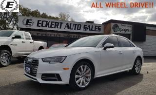 Used 2018 Audi A4 Komfort ALL WHEEL DRIVE!! for sale in Barrie, ON