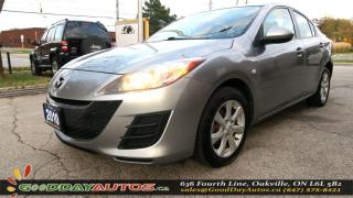 Used 2010 Mazda MAZDA3 GS|LOW KM|NO ACCIDENT|ALLOYS|BLUETOOTH|CERTIFIED for sale in Oakville, ON
