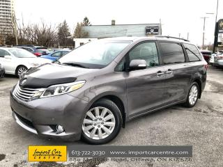 Used 2017 Toyota Sienna Limited 7-Passenger LEATHER  ROOF  NAVI  BLIS  DVD for sale in Ottawa, ON