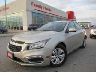 Used 2015 Chevrolet Cruze LT 1LT | REVERSE CAMERA | BLUETOOTH | for sale in Brampton, ON