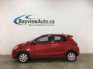 Used 2015 Mitsubishi Mirage - AUTO! BLUETOOTH! A/C! CRUISE! PWR GROUP! for sale in Belleville, ON
