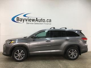 Used 2018 Toyota Highlander XLE - AWD! HTD LEATHER! SUNROOF! NAV! PWR LIFTGATE! + MORE! for sale in Belleville, ON