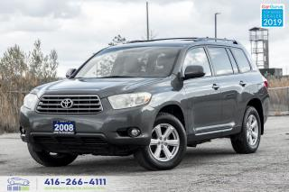 Used 2008 Toyota Highlander V6 4WD 7-Seat R*Cam Extra Clean Serviced Certified for sale in Bolton, ON