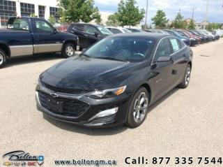 New 2019 Chevrolet Malibu RS -  Android Auto -  Apple CarPlay for sale in Bolton, ON