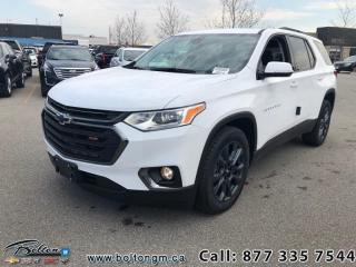 New 2019 Chevrolet Traverse RS - Leather Seats - Package for sale in Bolton, ON