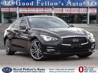 Used 2015 Infiniti Q50 SPORT MODEL, 6CYL 3.7L, AWD, POWER SEATS, NAVI for sale in Toronto, ON