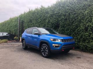 Used 2020 Jeep Compass Trailhawk 4wd + NAV + DUAL-PANE SUNROOF + RR PARK ASSIST + BLIND-SPOT MONITORING SYSTEM + NO EXTRA DEALER FEES for sale in Surrey, BC