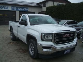 2018 GMC Sierra 1500 Reg. Cab, 8Ft Box, 5.3L V8, 2WD
